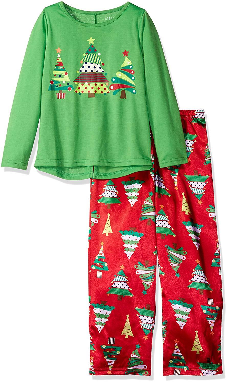get quotations komar kids girls christmas tree 2pc sleepwear set