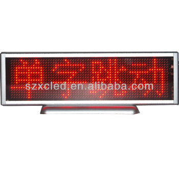 LED desk display sign Indoor dot-matrix Resolusion:16*64 P4 SMDAll languages