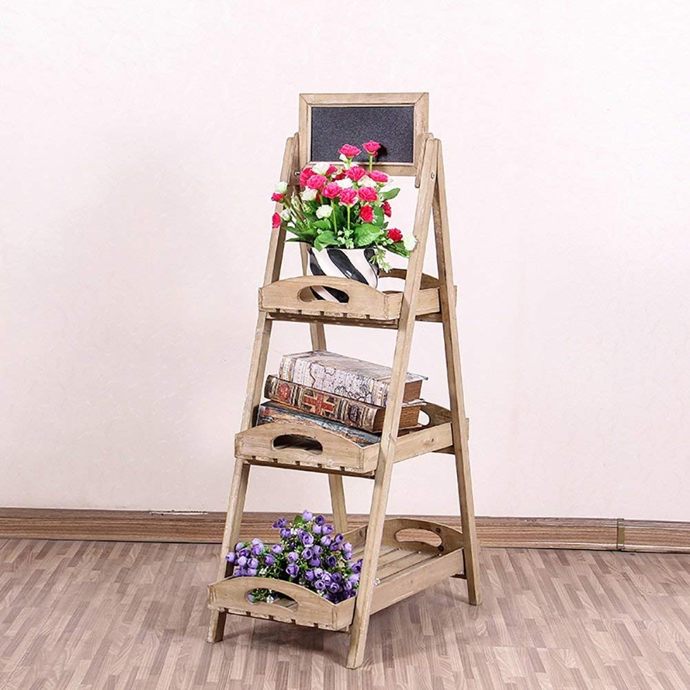 Cheap flower stand for funeral find flower stand for funeral deals get quotations longyu indoor flower stand three layer solid wood flower shelves florist flower pots racks izmirmasajfo