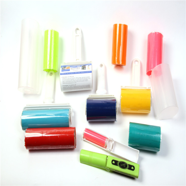 Hot Selling Sticky Refill Wasbare Floor Tapijt Huisdier Cleaner Dust Remover Siliconen Picker Pluis Mini Reinigingsborstel Lint Roller