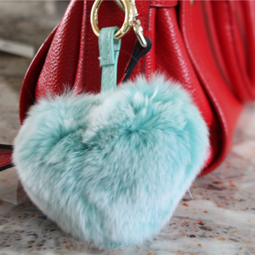 QD84031factory price unisex frost color lovely heart shaped personalized luxury bag keychains