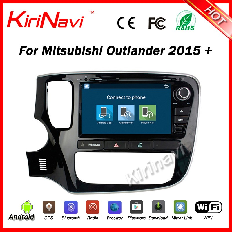 Kirinavi WC-MO8086 android 5.1 car dvd player for mitsubishi outlander 2015 2016 + car multimedia system wifi 3g bluetooth OBDII