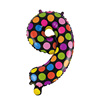 Mini Doted Inflatable Foil Number Balloons For Wedding Birthday Party Decoration