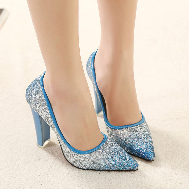Slip On Shoes Women Thin Soled Blue