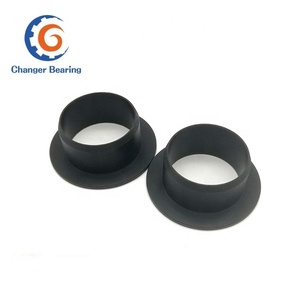flanged plastic nylon bushing with flange as per your drawing PA6 POM PTFE ABS