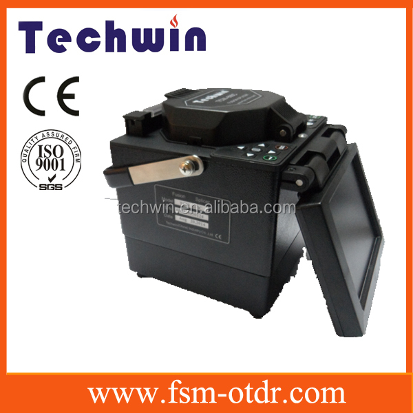 Fibre optic fusion splicer carrying case can act as work table to splice the fiber