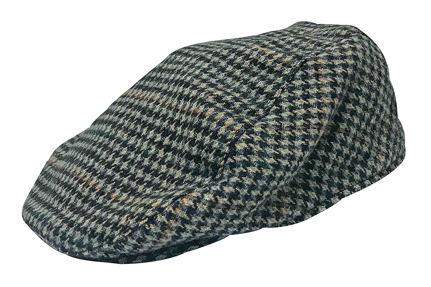 Get Quotations · Sock Snob Mens Vintage Houndstooth Plaid Wool Blend Winter newsboy  Flat IVY Cap Hat 6e82b785a8a3