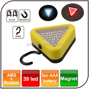 Hand Up Triangle Emergency Camping Light 39 Led Work Lamp with 15 Led White Light 24 Led Red Light