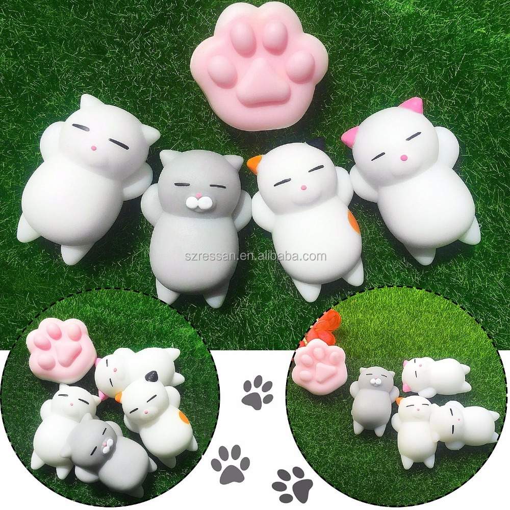 2017 Trending cute little animals pinch toys silicone squishy cartoon soft toy