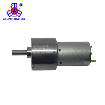 37mm dia dc gear motor low rpm spur dc motor 12v dc reduction motor