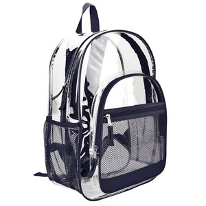 Wholesale waterproof kids PVC school bag clear transparent backpack