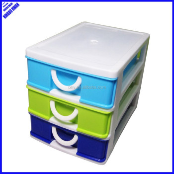 ECO-friendly cheap 3 tier desktop mini stackable plastic storage drawers  sc 1 st  Alibaba : 3 tier plastic storage boxes  - Aquiesqueretaro.Com