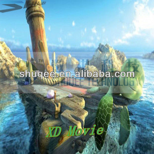 Hot XD movies for playground, 4D 5D cinema indoor decoration