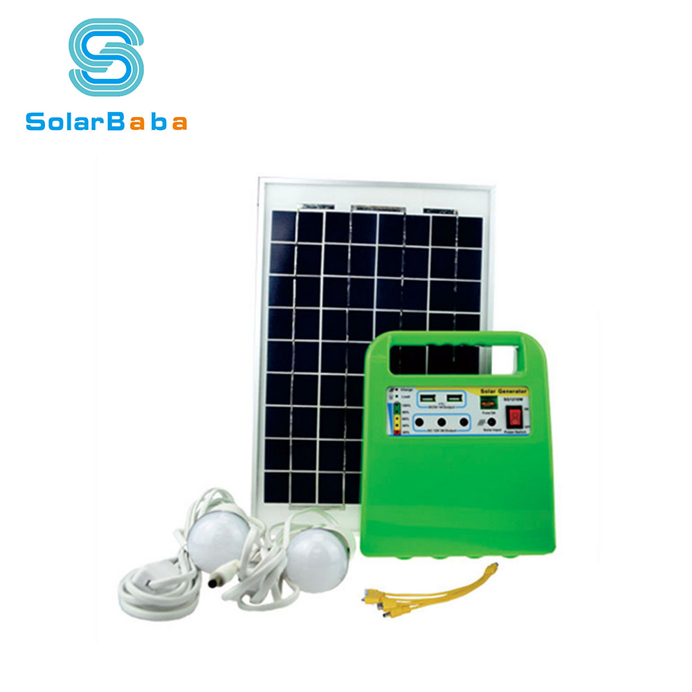 Portable Solar Home Lighting System 10w 20w Dc Mini Solar System ...