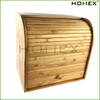 Bamboo retro style large bread box Homex BSCI/Factory