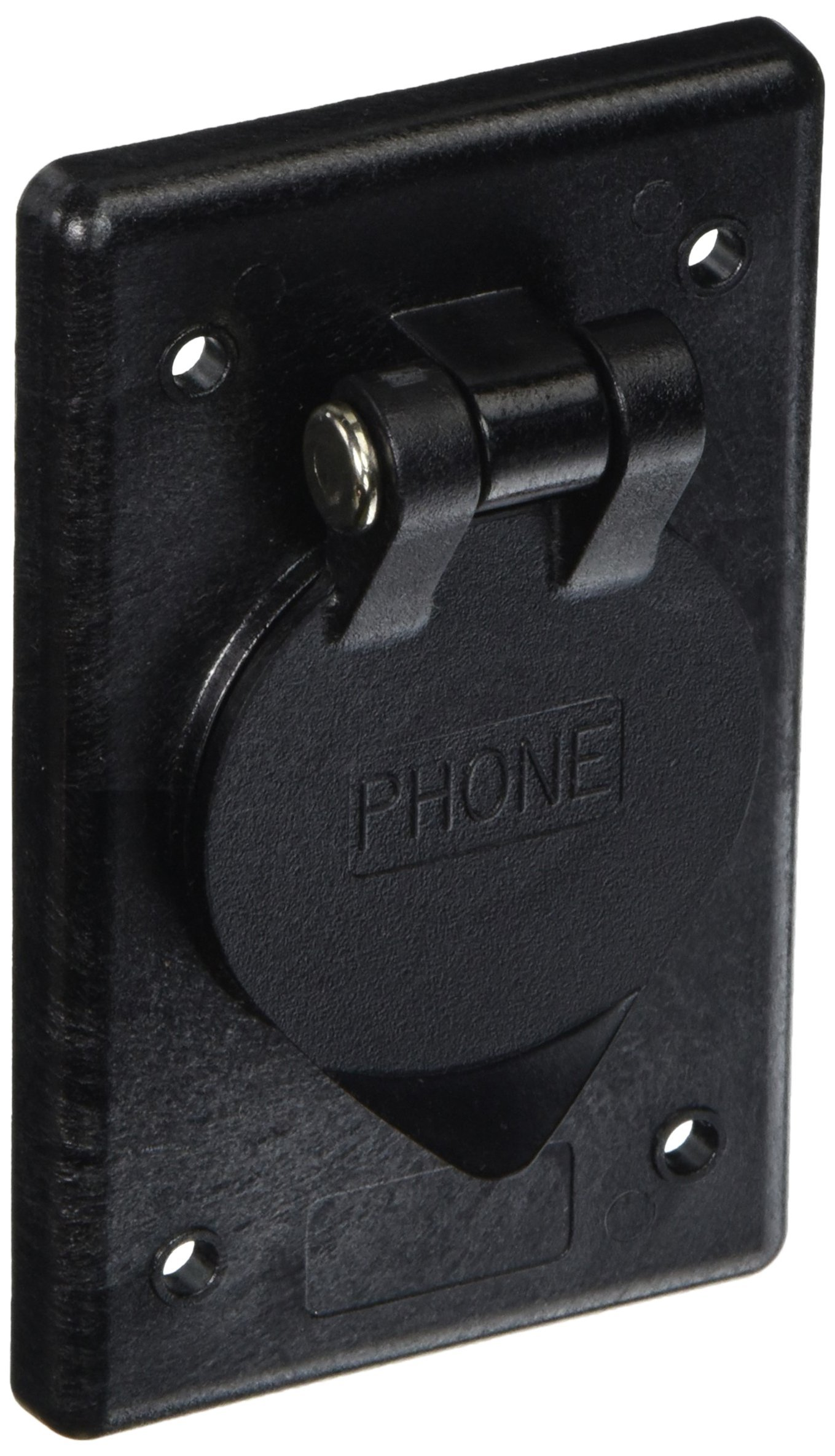 Cheap Phone Outlet Wiring Find Deals On Line At Black White Get Quotations Hubbell Systems Ph6597 Polycarbonate Rectangular With Gasketed And Spring Loaded Lift Cover