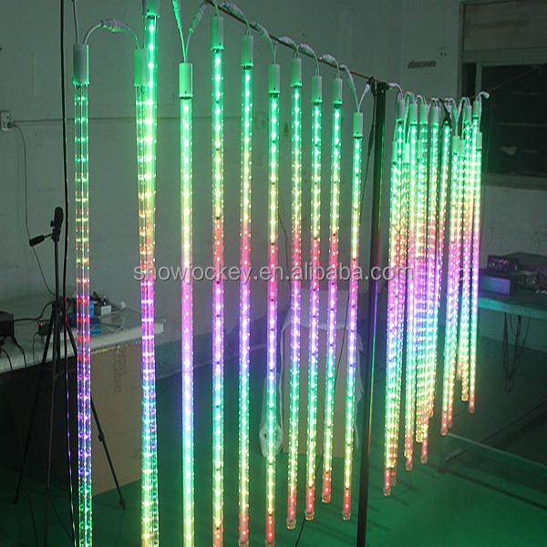 Multi Color Led Snow Falling Tube Light|| 3d Outdoor Led Hanging ...