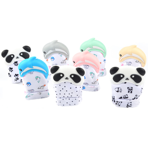 Wholesales Animal Baby Teething Mitt Gloves Silicone Teether Mitten
