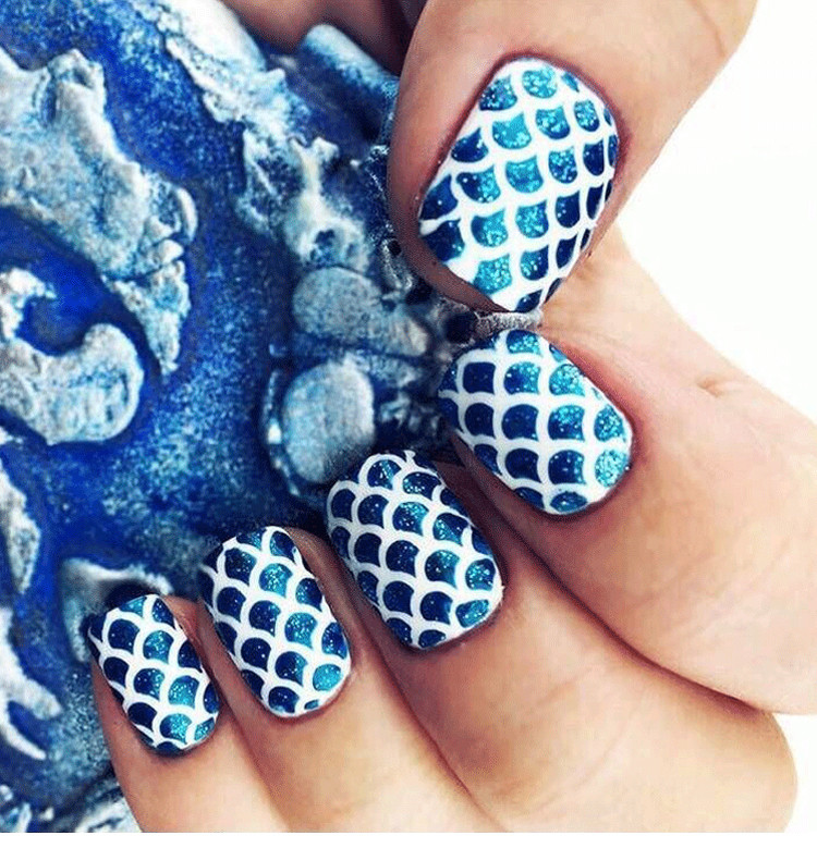 Attractive Reusable Nail Stencil Illustration - Nail Paint Design ...
