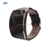 Adjustable Genuine Leather Belt Replacement Wristband Fitness Bracelet Strap For SAMSUNG GALAXY Gear S R750 Steel Wrist Band