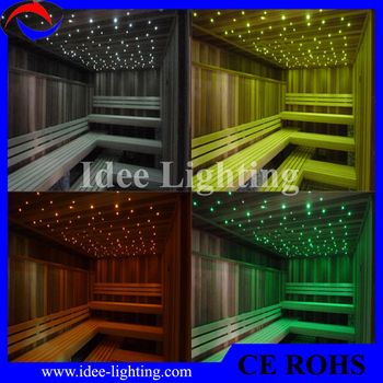 multi color led glasvezel verlichting sauna