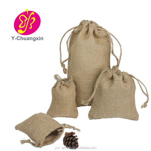 Customized Unmatchable quality large burlap bag of nuts with drawstring