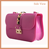 2016 Ladies Fashion Silicone Mini handbags for College girl Jelly Handbags