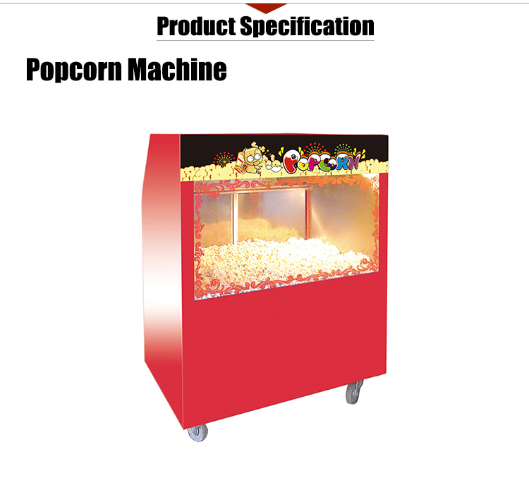K524 Electric Mobile Popcorn Warming Showcase 12L Movie Theater Popcorn Vending Machine
