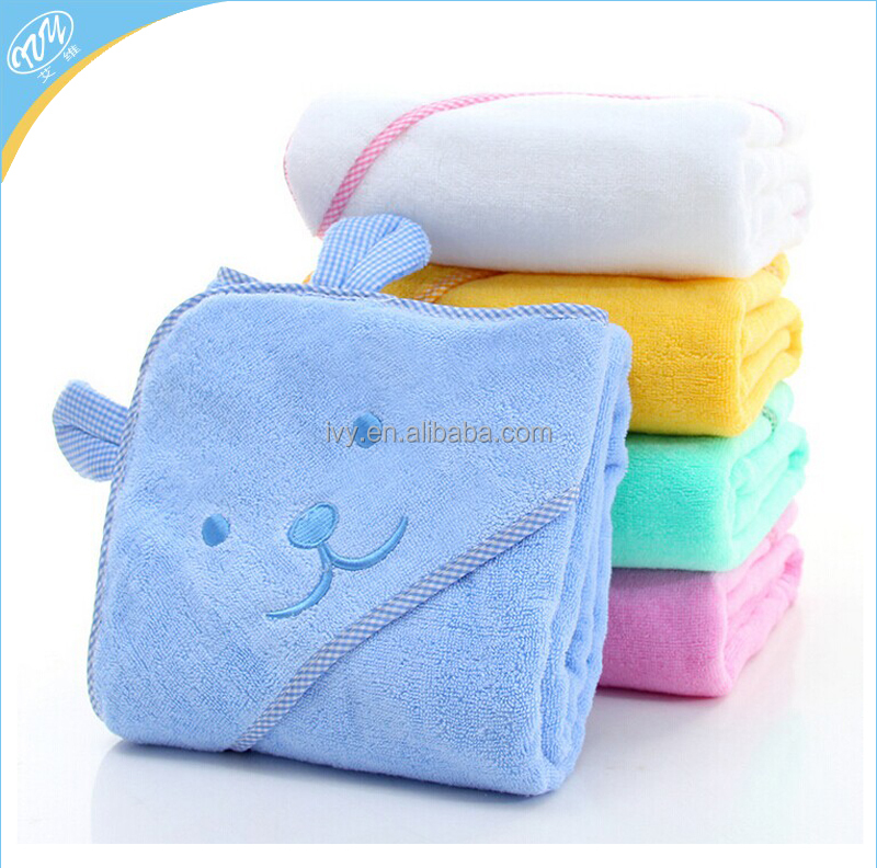 Baby hooded bath towel, 100% thin cotton bath towels