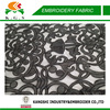 2015 new black polyester mesh embroidery fabric for evening dress