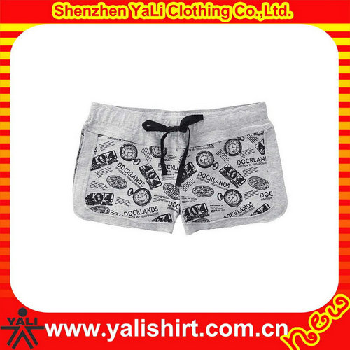 wholesale custom printing mini fleece sweat shorts for women
