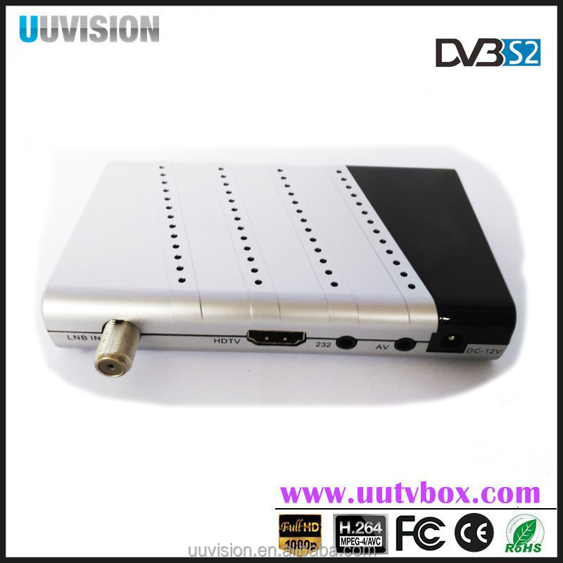 UUvision biss key satellite receive MINI DVB S2 TV BOX support OTT wifi/3G ,POWERVU IKS IPTV