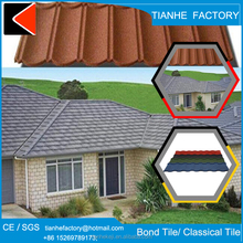 stone chip coated corrugated metal roofing tile