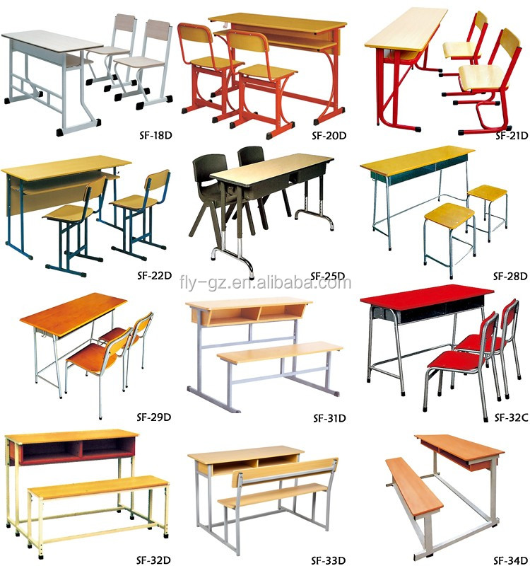 Latest Classroom Double Table Design School Bench Desk Table For ...