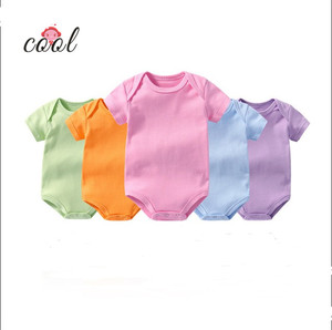 2019 New Short Sleeve Baby Rompers100% Cotton Newborn Baby Clothing