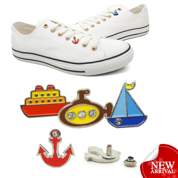 All star custom decorative metal shoe charms for converse shoes