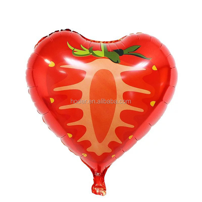 Colorful fruit Foil Balloons watermelon 18 Inch Round strawberry Aluminum Balloon For Party Decoration