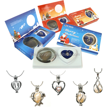 christmas gift set of wish pearl,love pearl