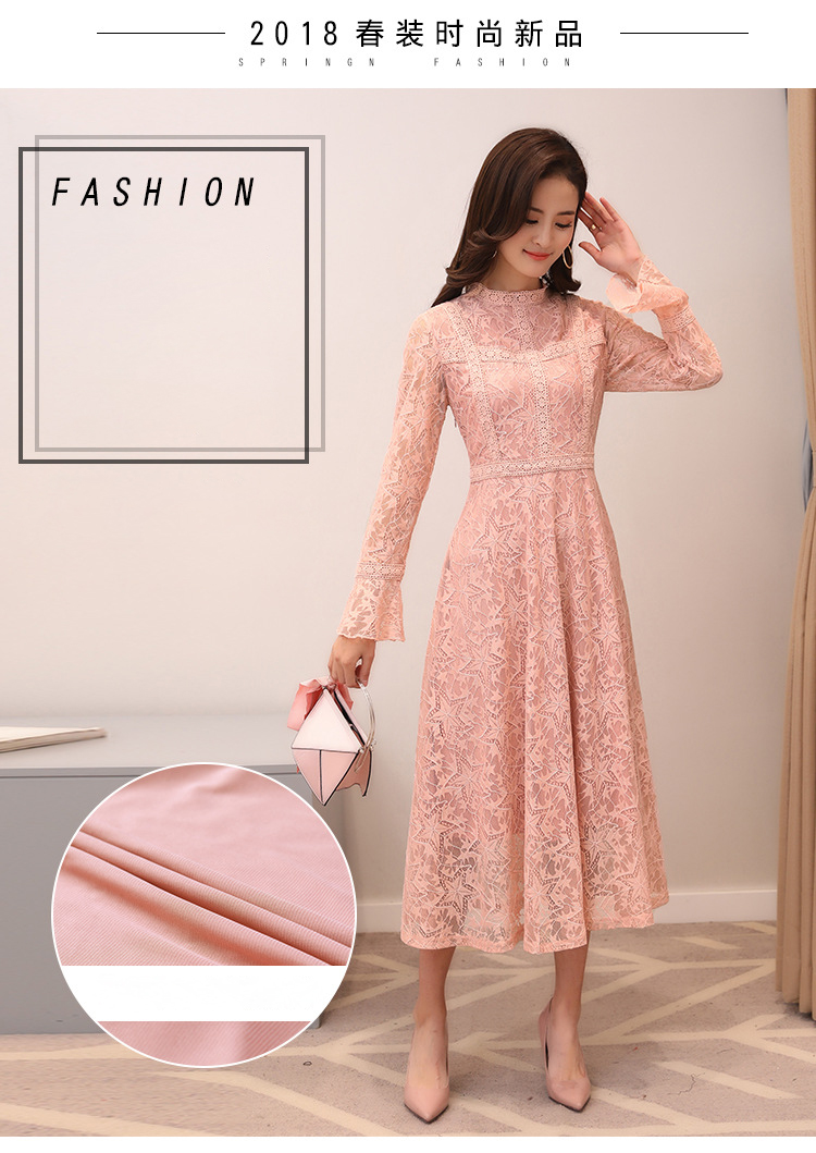 R & H vestido Maxi elegante a-line primavera 2018 nuevo plisado ...