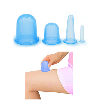 Soft silicone massage cup Chinese silicone massage cupping set