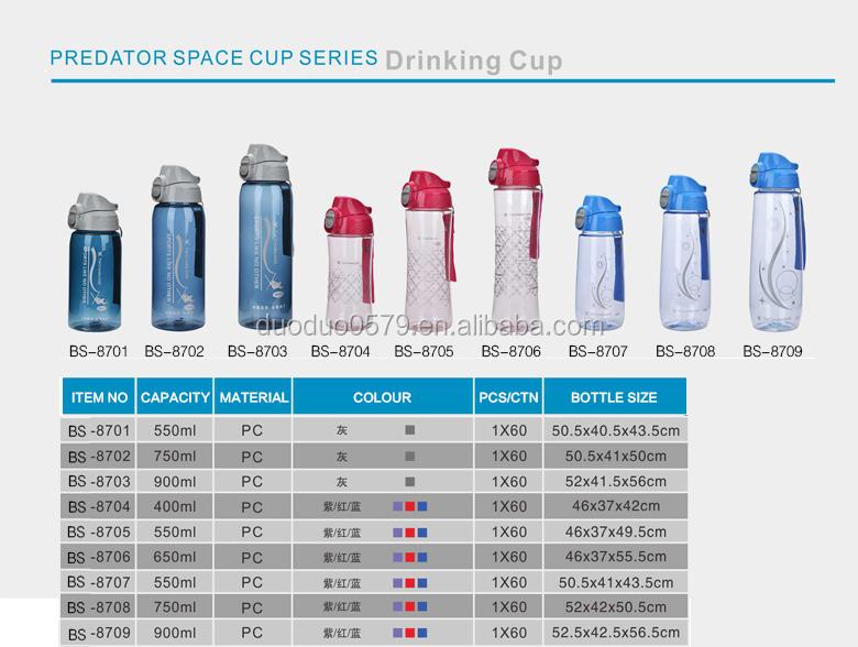 1000ml customized nalgene plastic food grade bpa free drink water bottle  with handle carry 978c7b51115c