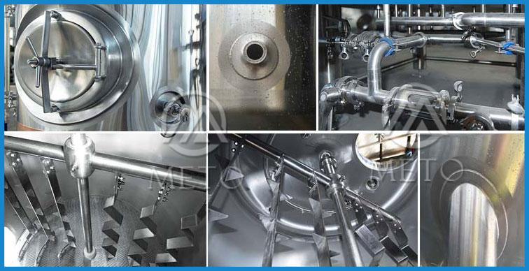 उच्च गुणवत्ता के लिए Unitank 1200 लीटर बीयर पक उपकरण
