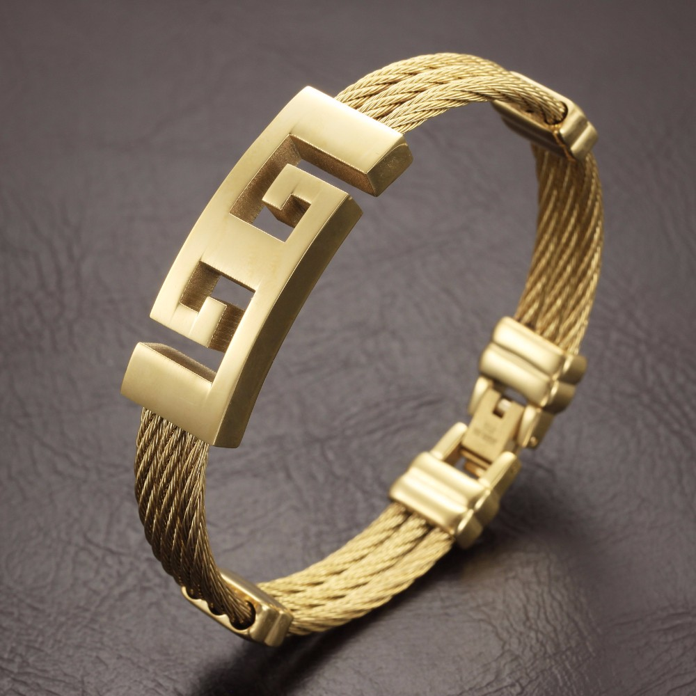 Ip Gold Simple Bangles 22k Gold Bangles Latest Design China ...
