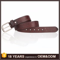 Free Shipping Fashion Design Your Own Logo Customized Men Genuine Leather Printing Belts