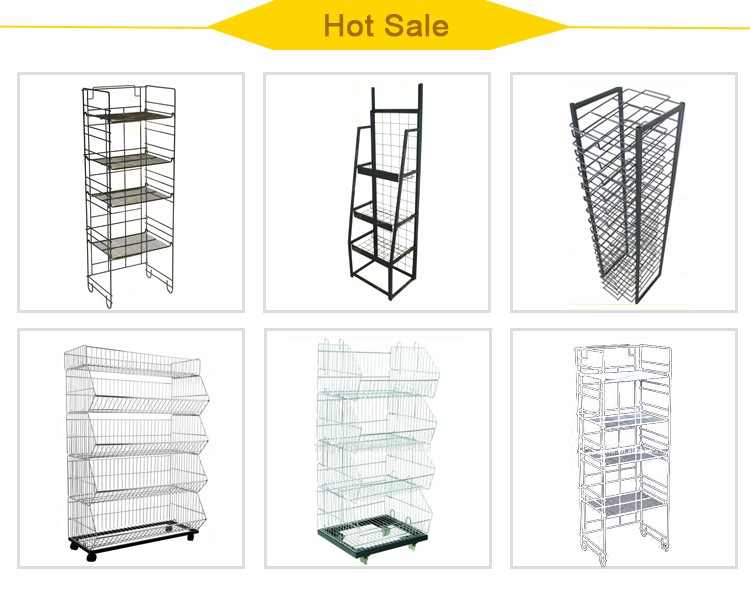 heavy duty 500kg capacity rolling metal foldable logistic warehouse cage cart trolley
