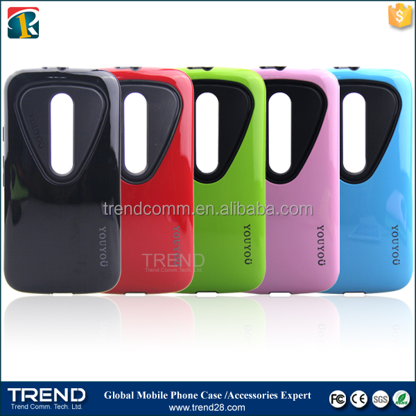 China on line shopping youyou pc+tpu case for moto G3