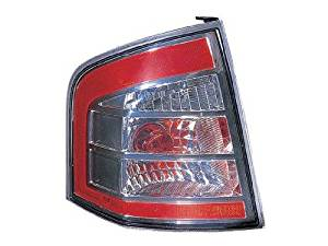 DRIVER SIDE TAIL LIGHT Ford Edge ASSEMBLY; WITH CHROME TRIM; FITS ALL MODELS EXCEPT 20 SPORT MODELS WITH BLACK TRIM