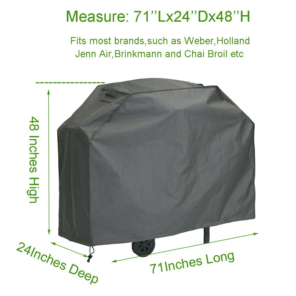 Extra Large 71-inch BBQ furniture cover Waterproof
