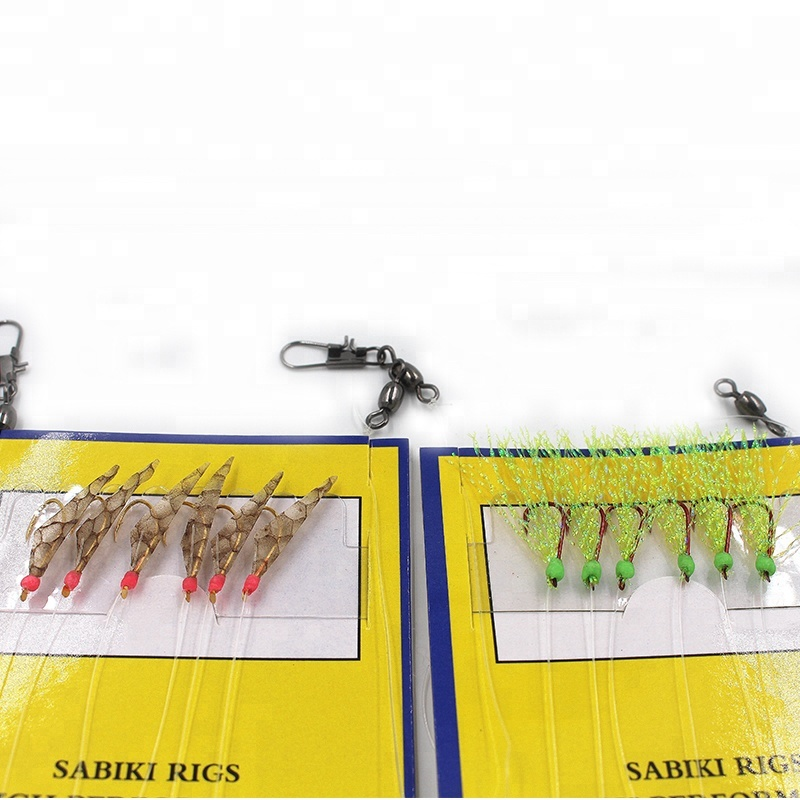 Sabiki Bait Rigs Luminous Beads Fish Skin Sabiki Fishing Lures 6