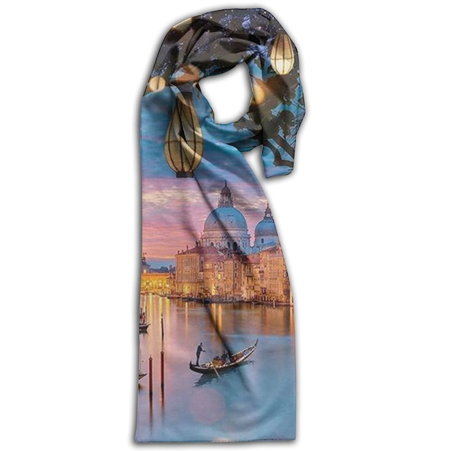 e5cf719249445 Get Quotations · Venice Scarf Big Oblong Long Scarves Classic Checked Shawl  For Sticks Travel For Women Or Men
